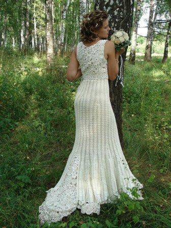 В прически невесты также есть вязаные.